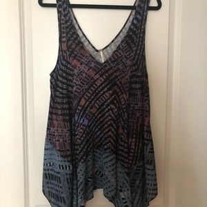 graphic handkerchief hem tank! FREE PEOPLE!